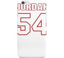 NFL Player Akeem Jordan fiftyfour 54 iPhone Case/Skin
