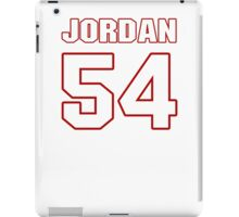 NFL Player Akeem Jordan fiftyfour 54 iPad Case/Skin