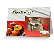 Paczki Day Raccoon Greeting Card