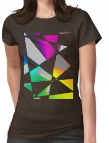 Dope Fractal Design, Rainbow looking ahh.  Womens Fitted T-Shirt