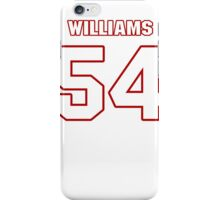 NFL Player Jason Williams fiftyfour 54 iPhone Case/Skin