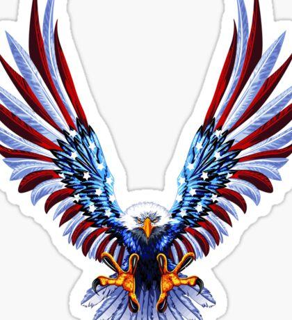 Eagle - USA flag Sticker