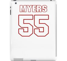 NFL Player Chris Myers fiftyfive 55 iPad Case/Skin