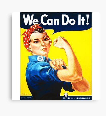 We Can Do It! (1943) - US Wartime Propaganda Poster Canvas Print