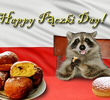 Paczki Day Raccoon by jkartlife