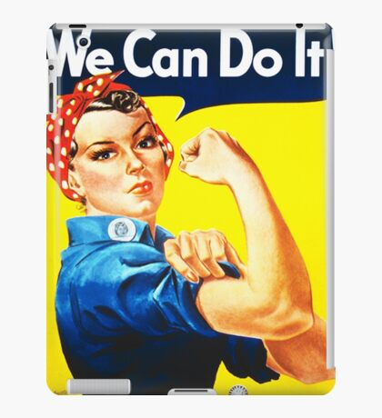 We Can Do It! (1943) - US Wartime Propaganda Poster iPad Case/Skin