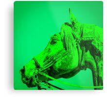 The Dark Green Horse Metal Print