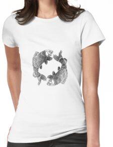 Yin Yan Womens Fitted T-Shirt