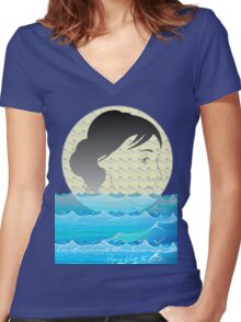 I am not one and simple, but complex and many. -Virginia Woolf, The Waves  Women's Fitted V-Neck T-Shirt
