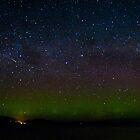 Aurora and meteor by Odille Esmonde-Morgan