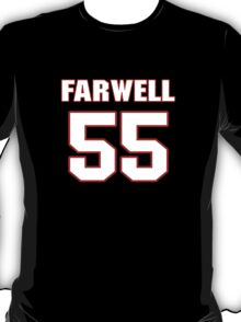 NFL Player Heath Farwell fiftyfive 55 T-Shirt