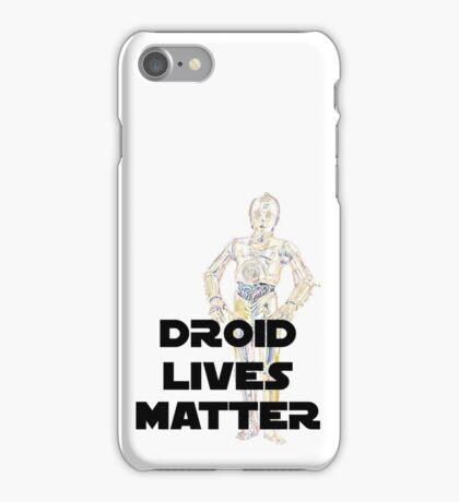 droid lives matter.  iPhone Case/Skin