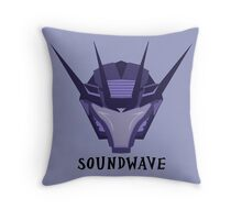 Prime Soundwave Throw Pillow