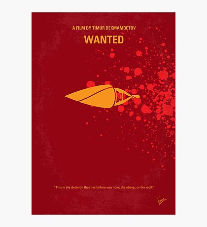 No176 My Wanted minimal movie poster Photographic Print