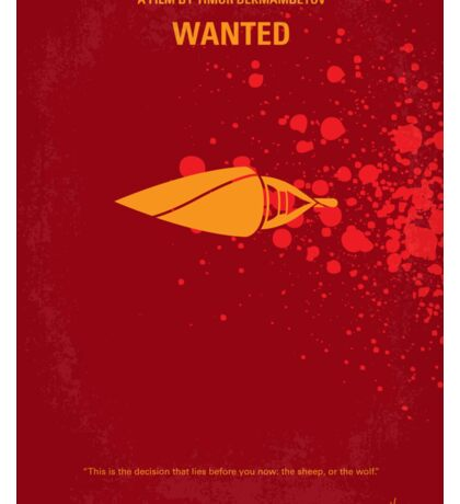 No176 My Wanted minimal movie poster Sticker