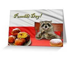 Punchki Day Raccoon Greeting Card