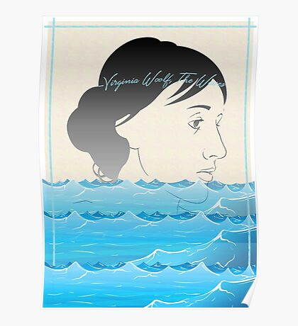 Virginia Woolf, The Waves Poster