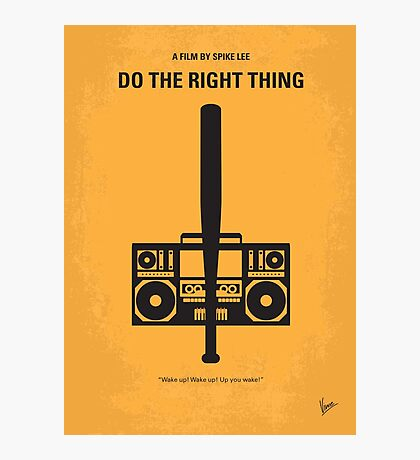 No179 My Do the right thing minimal movie poster Photographic Print