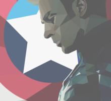 Geo Captain America Sticker