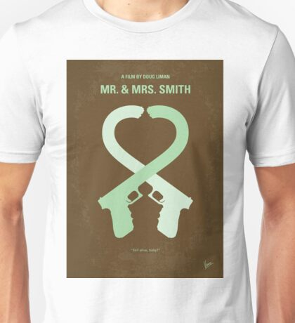 No187 My Mr. and Mrs. Smith minimal movie poster Unisex T-Shirt