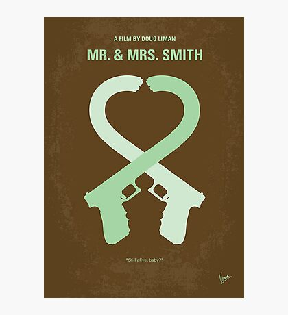 No187 My Mr. and Mrs. Smith minimal movie poster Photographic Print