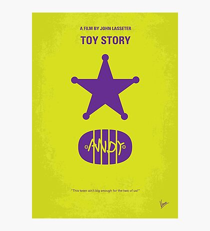 No190 My Toy Story minimal movie poster Photographic Print