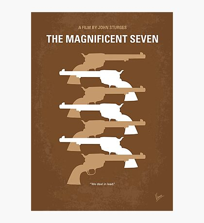 No197 My The Magnificent Seven minimal movie poster  Photographic Print