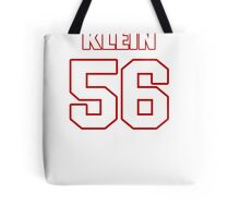 NFL Player A.J. Klein fiftysix 56 Tote Bag