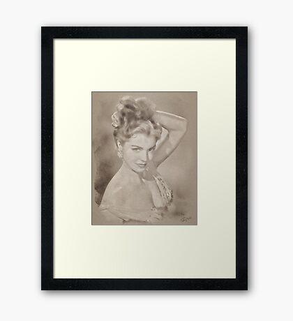 Esther Williams, Vintage Hollywood Actress Framed Print
