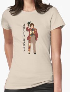 Doctor Who Tom Baker Jelly Baby minimalist Womens Fitted T-Shirt