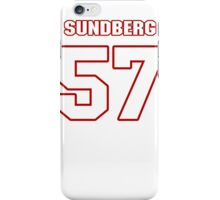 NFL Player Nick Sundberg fiftyseven 57 iPhone Case/Skin