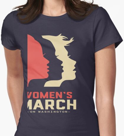 Women's March on Washington t shirt Womens Fitted T-Shirt