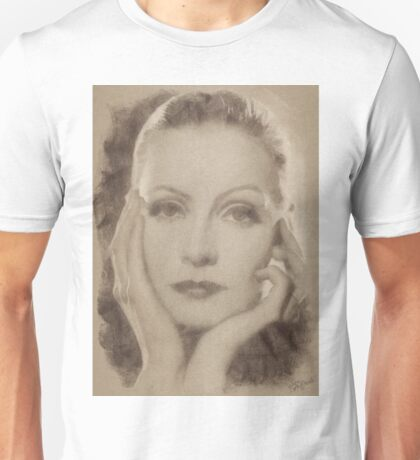 Greta Garbo, Vintage Hollywood Actress Unisex T-Shirt