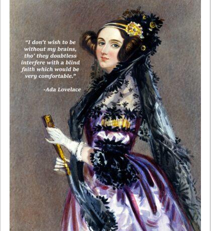 Ada Lovelace (Portrait by Alfred Chalon) Sticker