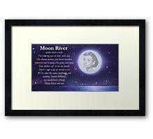 Moon River Poster + T-shirt Framed Print