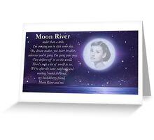 Moon River Poster + T-shirt Greeting Card