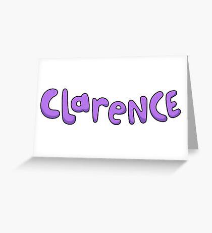 Clarence logo  Greeting Card