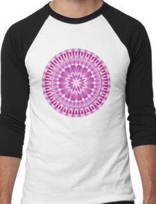 Flower Petals Mandala Men's Baseball ¾ T-Shirt