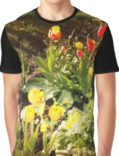 Garden with tulips Graphic T-Shirt