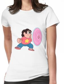 steven universe rose shield  Womens Fitted T-Shirt
