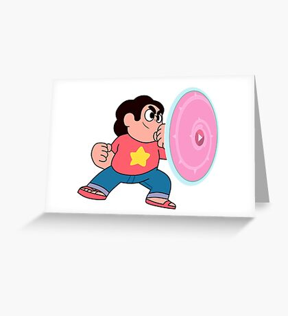 steven universe rose shield  Greeting Card