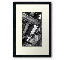 Underneath- a view from under a CSR Railroad Girder Bridge Framed Print