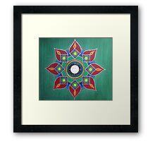 Introvert ~ Mandala on Canvas Framed Print