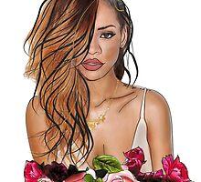 Rihanna Rose Etch by Ela Designs©