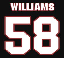 NFL Player D.J. Williams fiftyeight 58 by imsport
