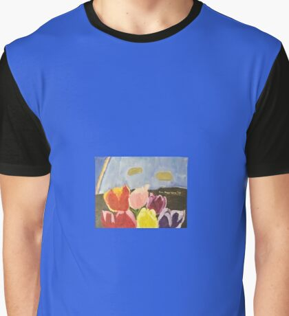 Holland Tulips Graphic T-Shirt