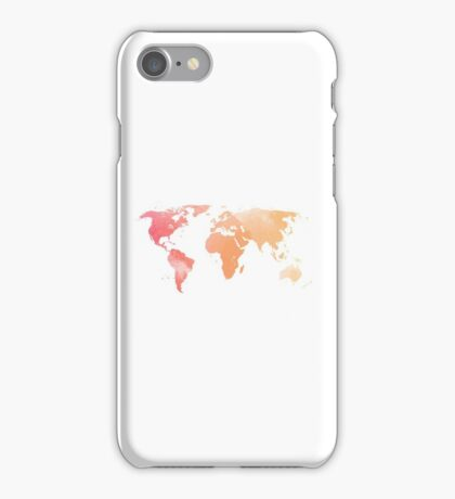 Watercolour Map of the World iPhone Case/Skin