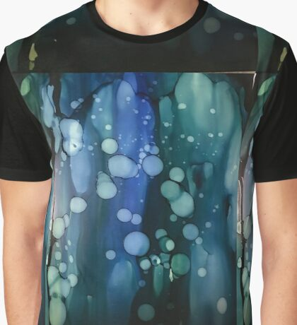 Alcohol ink - blue, green, teal Graphic T-Shirt