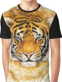 Artistic Tiger Face Graphic T-Shirt