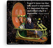 Hawking on Time Travel Canvas Print